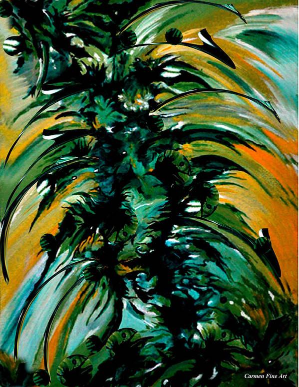 Momentary Season Art Print featuring the painting Momentary Season by Carmen Fine Art
