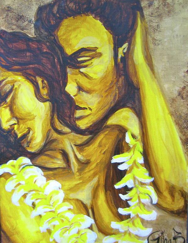 Hawaiian Art Print featuring the painting Morning Sun by Gina Bocalbos