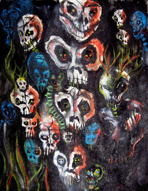 Dark Art Print featuring the painting New Dark by Leigh Odom