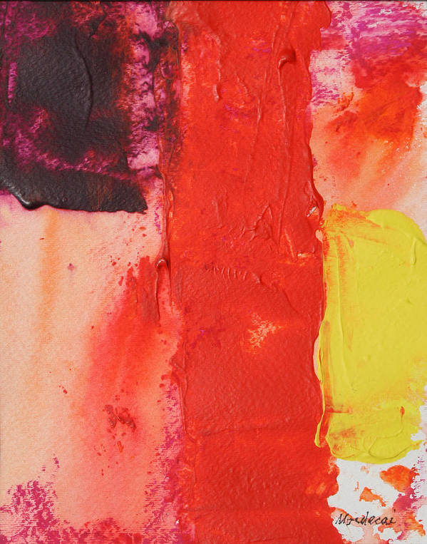 Abstract Art Print featuring the painting No.17 by Mordecai Colodner