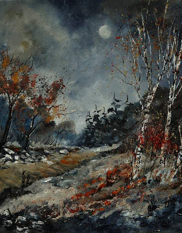 Landscape Art Print featuring the painting November by Pol Ledent
