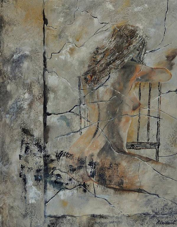 Nude Art Print featuring the painting Nude 910111 by Pol Ledent
