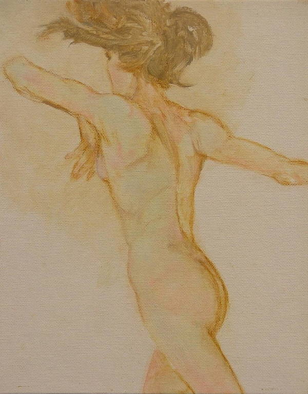 Female Art Print featuring the painting Nude Dancer by Gary Kaemmer