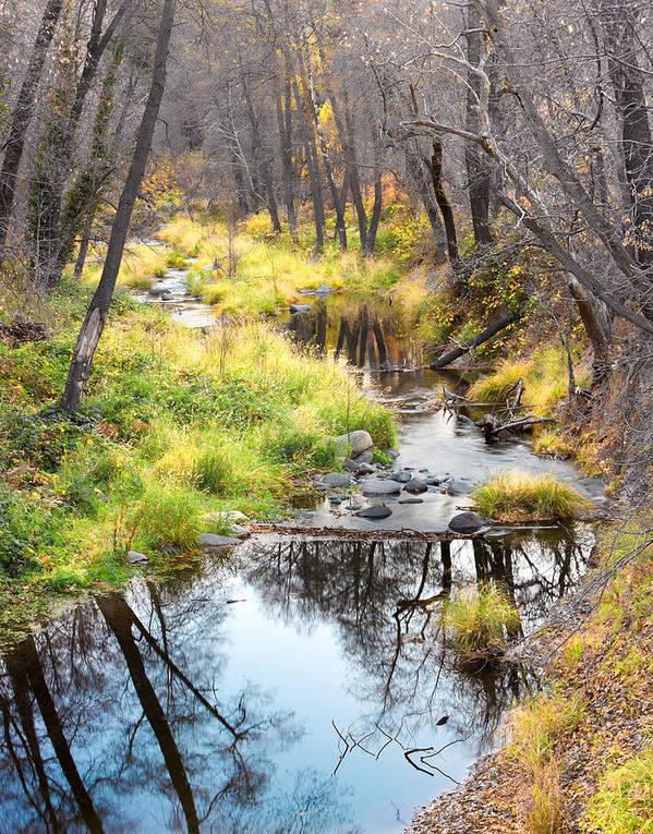 Canyon Art Print featuring the photograph Oak Creek Twilight by Carl Amoth