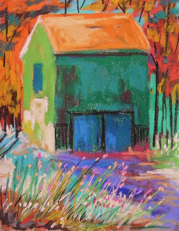 Barn Art Print featuring the painting Old And Green by John Williams