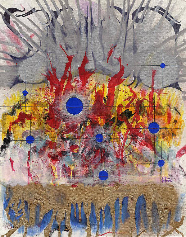 Chaos Art Print featuring the painting Order In Chaos by Nathaniel Hoffman