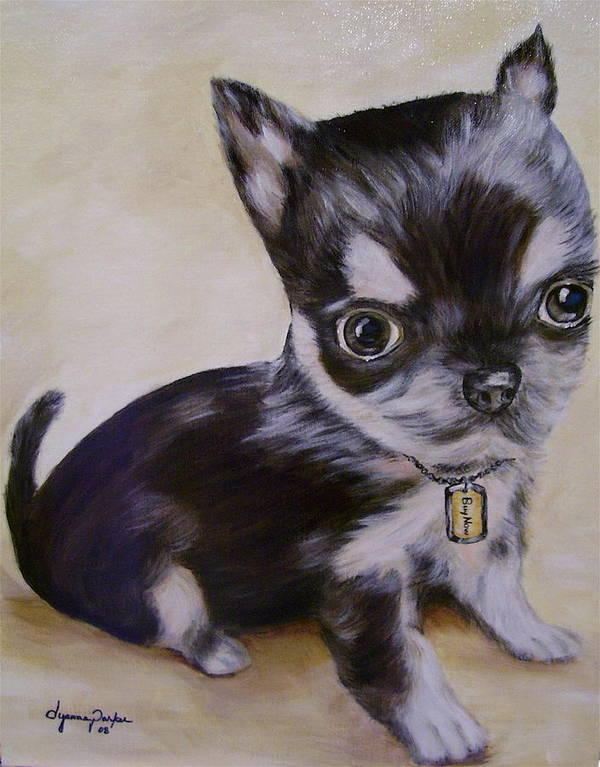 Dog Art Print featuring the painting Pay Pal by Dyanne Parker