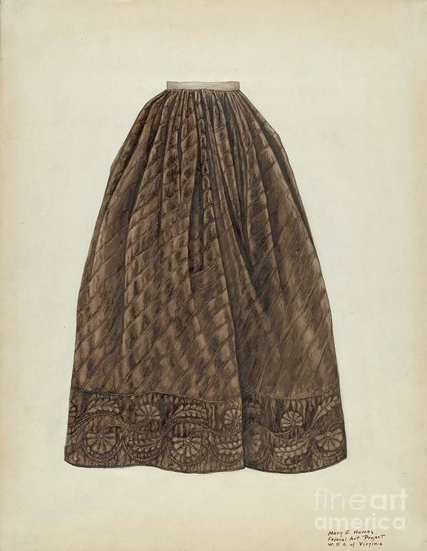 Art Print featuring the drawing Petticoat by Mary E. Humes