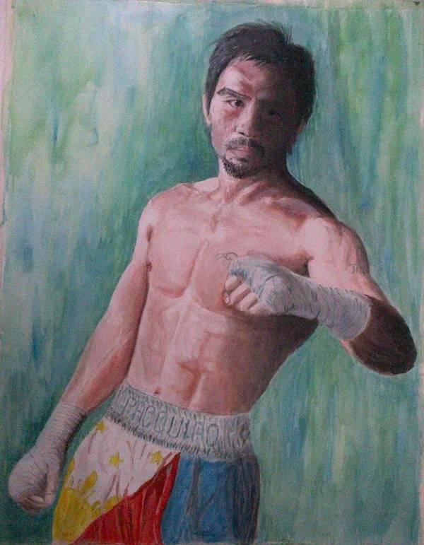 Boxing Art Print featuring the painting Phenomenal. by SAIGON De Manila