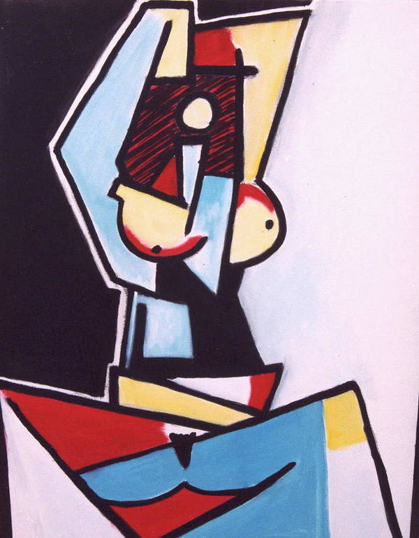 Picasso Art Print featuring the painting Picasso by Thomas Valentine