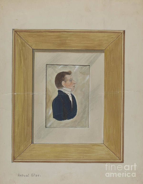 Art Print featuring the drawing Portrait by William Vergani