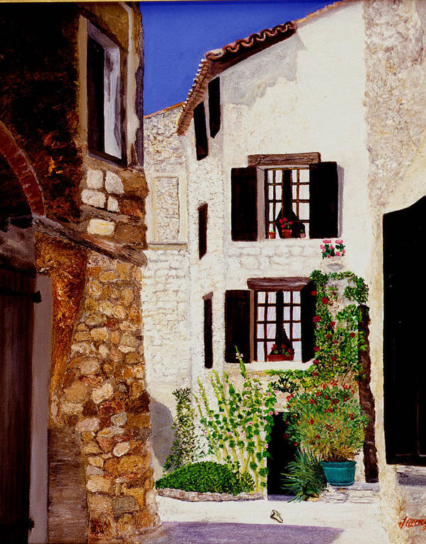 Provence Art Print featuring the painting Provence Four by JoeRay Kelley