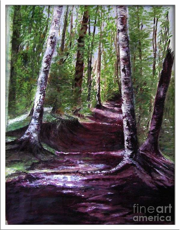 Painting Art Print featuring the painting Purple Walk by Sibby S