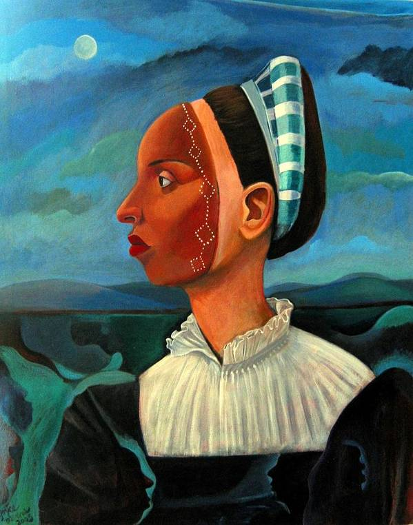 Woman Art Print featuring the painting Revealed Truths And Myths IIi by Joyce Owens