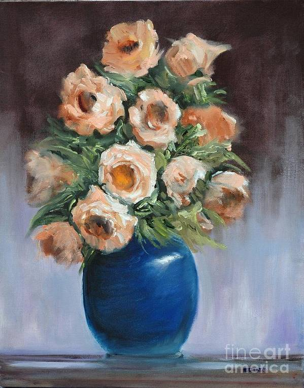 Floral Art Print featuring the painting Roses For Ashley by Glenn Secrest