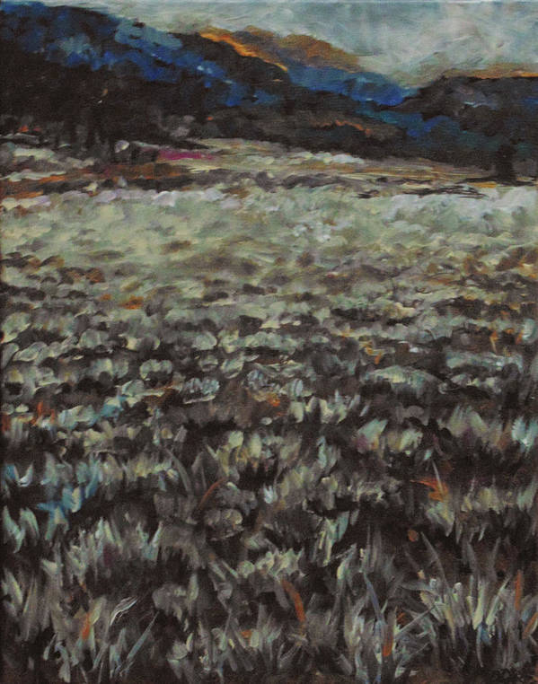 Landscape Art Print featuring the painting Sage Song by Susan Moore