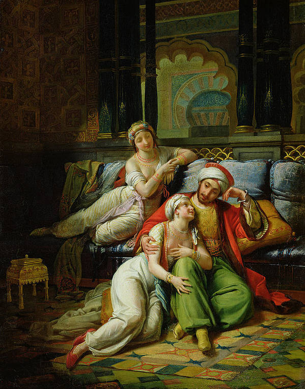 Scheherazade Print featuring the painting Scheherazade by Paul Emile Detouche