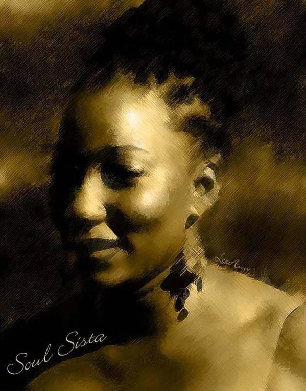 Portrait Art Print featuring the photograph Soul Sista by LeeAnn Alexander