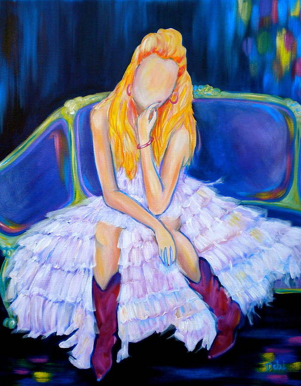 Southern Sass Art Print featuring the painting Southern Sass by Debi Starr
