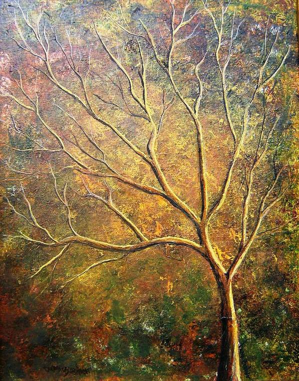 Art Print featuring the painting Spirit Tree 5 by Tami Booher