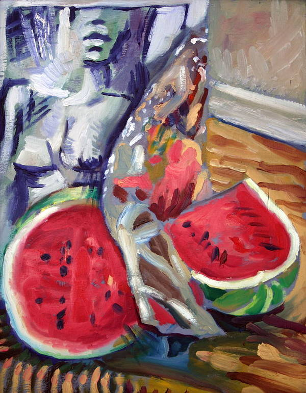 Still Life Art Print featuring the painting Still Life Wth Nude 2 by Piotr Antonow