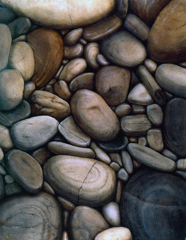 Stones Art Print featuring the painting Stones by Laine Garrido