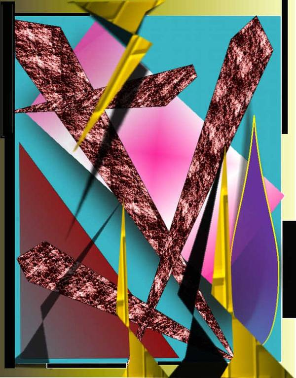 Abstracts Art Print featuring the digital art Structure by Brenda L Spencer