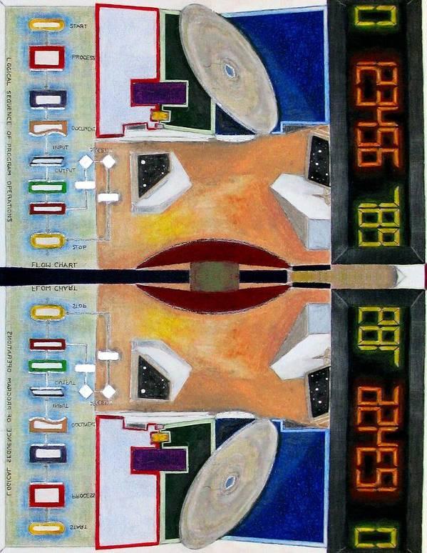 Fusion Art Print featuring the digital art The Digital Games by Ismael Alicea-Santiago