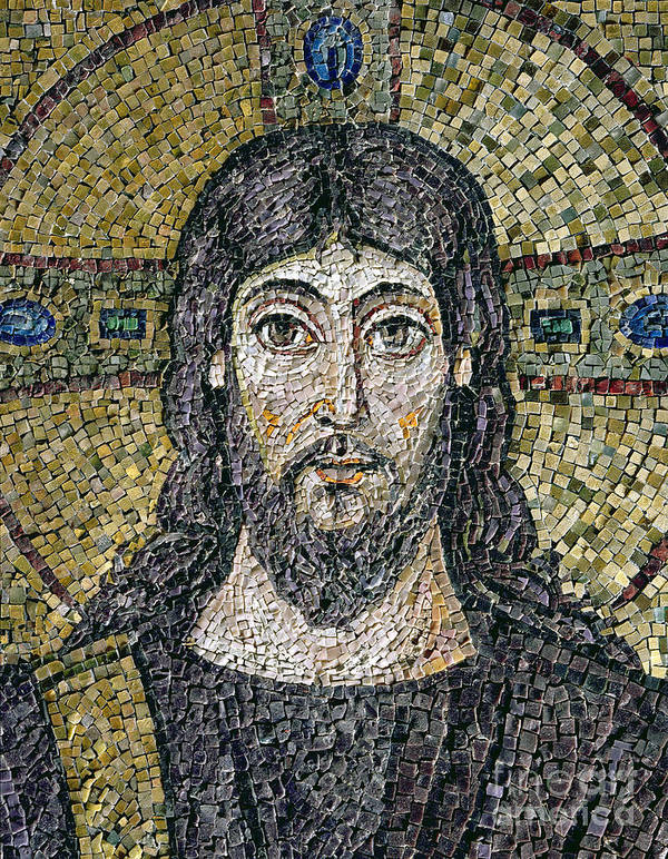 Christ Art Print featuring the relief The Face Of Christ by Byzantine School