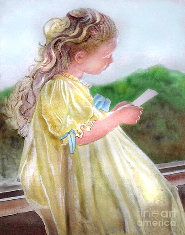 Girl Art Print featuring the painting The Letter by Lamarr Kramer