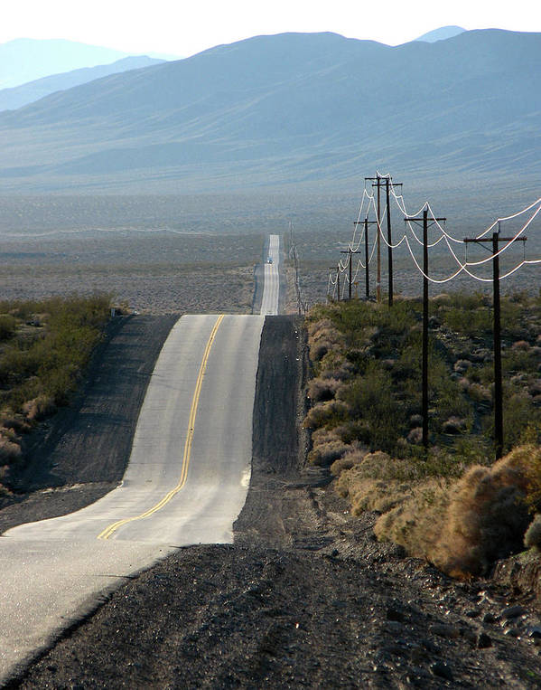 Highway Art Print featuring the photograph The Long And Winding Road by Helaine Cummins