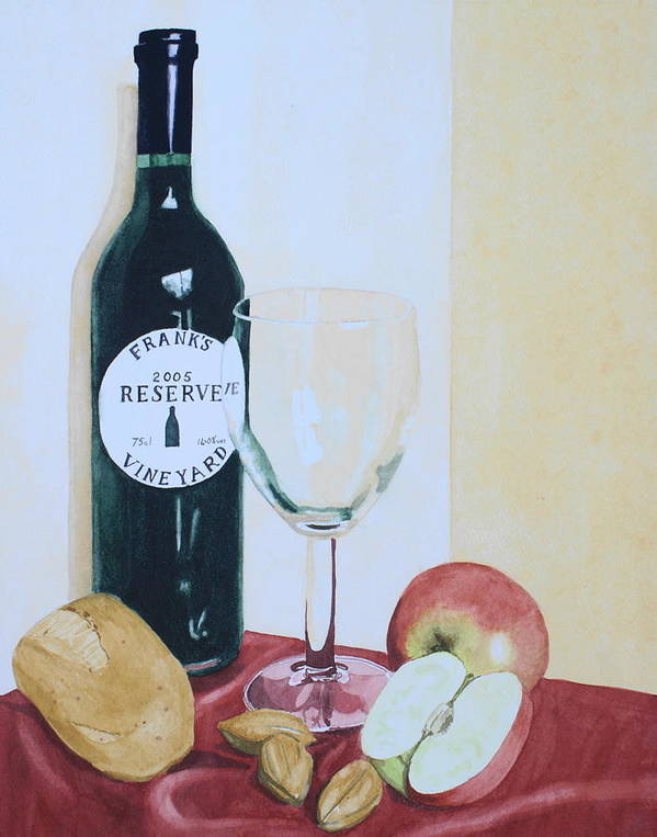 Still Life Art Print featuring the painting The Other Empty Glass. by Frank Hamilton