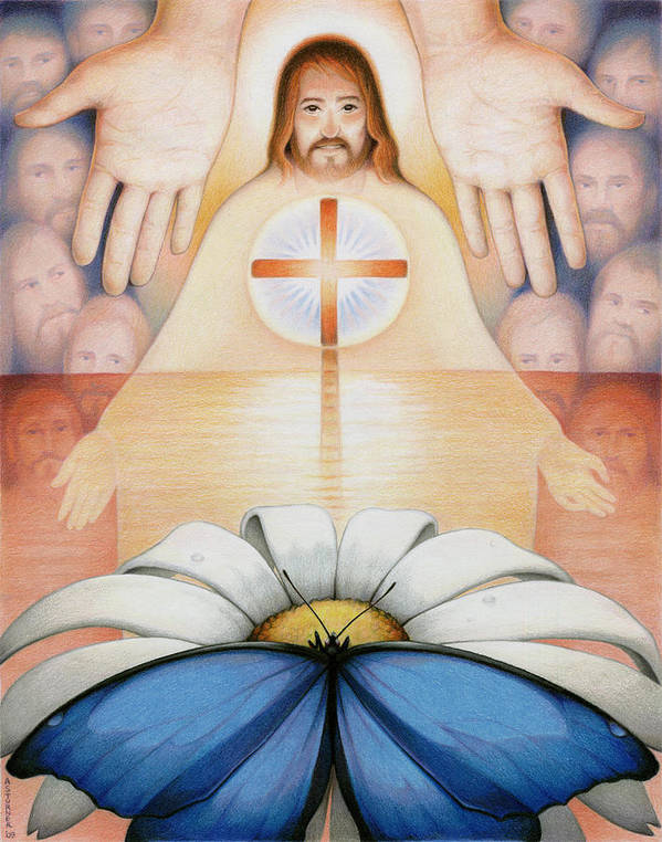 Jesus Art Print featuring the drawing The Price And The Promise by Amy S Turner