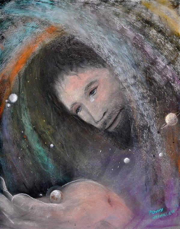 Christ Art Print featuring the painting The Whole World by Penny Neimiller
