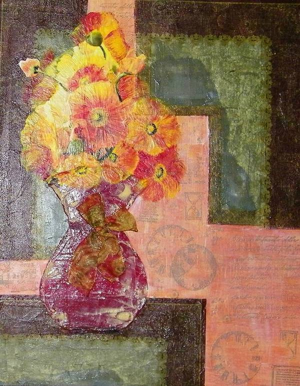 Acrylic Art Print featuring the painting Timeless - Flowers by Terry Honstead