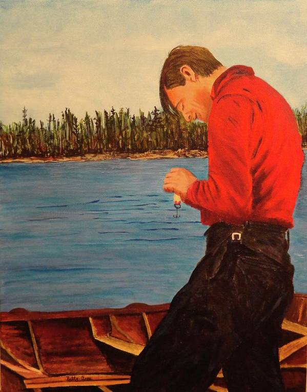 Tom Thomson Art Print featuring the painting Tom Thompson In Colour by Betty-Anne McDonald