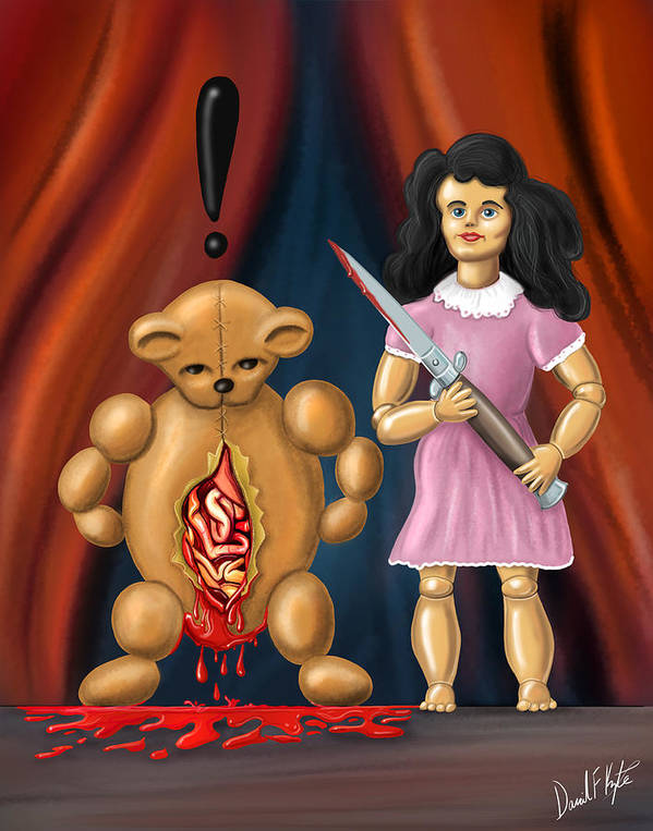 Toys Art Print featuring the digital art Trouble In Toyland by David Kyte