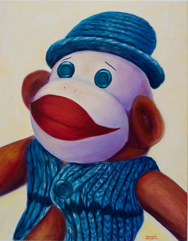 Children Art Print featuring the painting Uncle Frank by Shannon Grissom