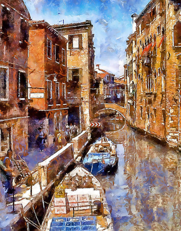Venice Art Print featuring the photograph Venice I by Gareth Davies