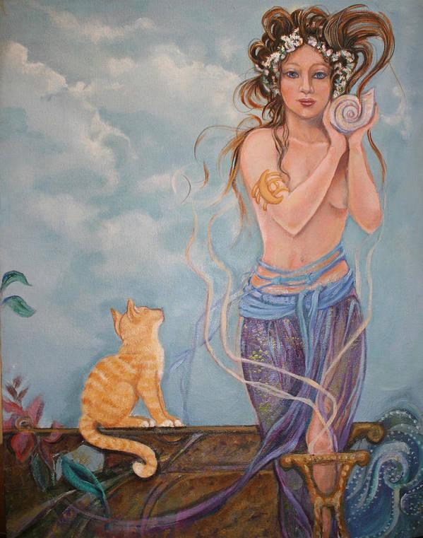 Venus Art Print featuring the painting Venus by Catherine Moore