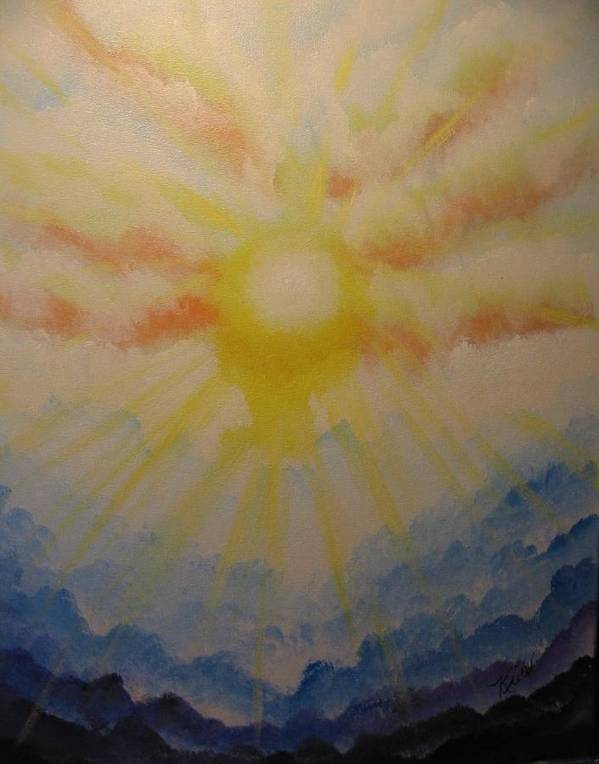 Waves Art Print featuring the painting Waves Of Glory by Laurie Kidd