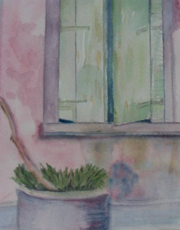 New Orleans Art Art Print featuring the painting Who Is Looking Out by Marian Hebert