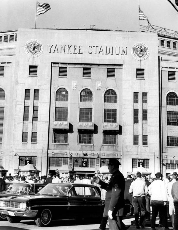 1960s Candids Art Print featuring the photograph Yankee Stadium, Fans Arrive To Watch by Everett