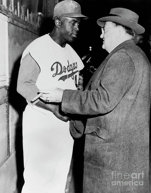 Jackie Robinson Art Print featuring the photograph National Baseball Hall Of Fame Library 198 by National Baseball Hall Of Fame Library