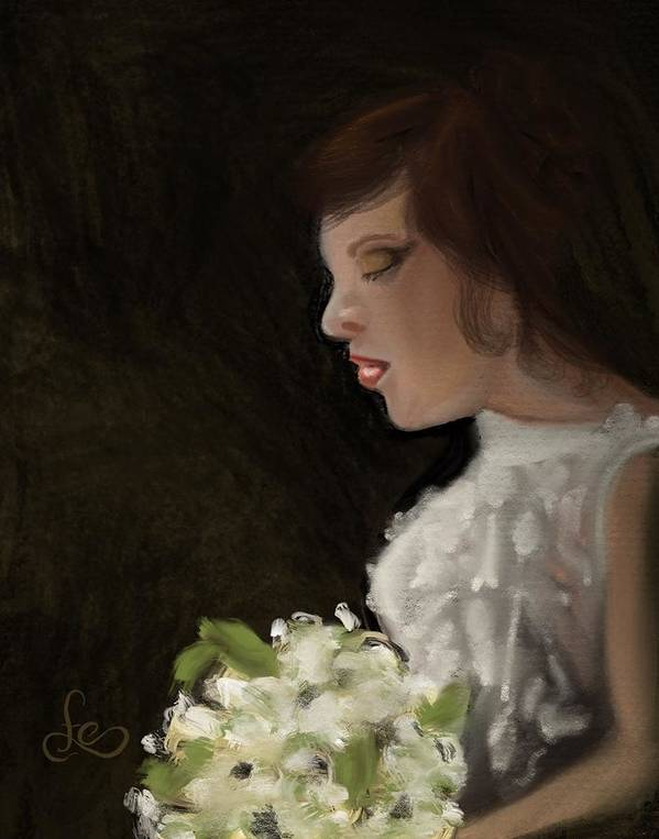 Art Print featuring the painting Her Big Day by Fe Jones