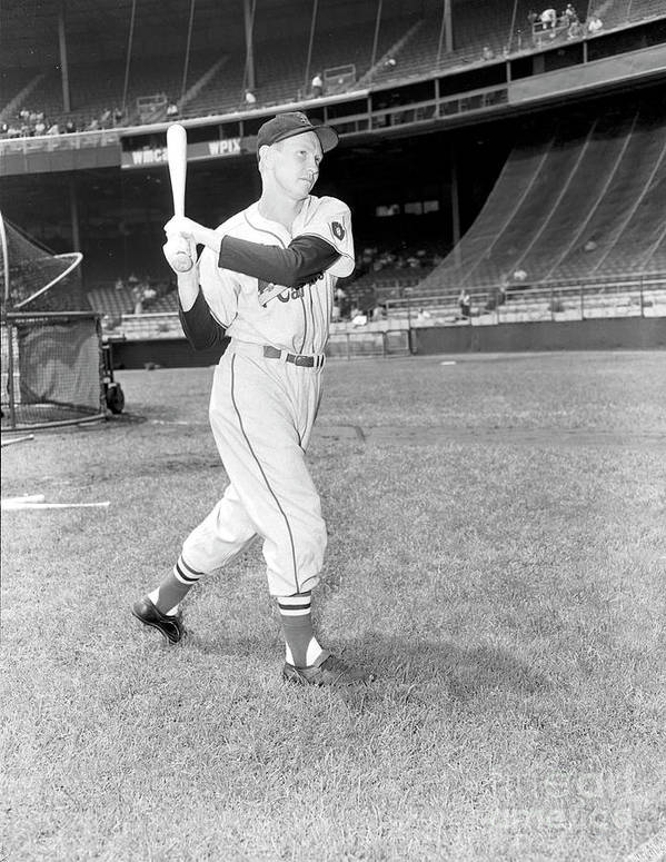 Red Schoendienst Art Print featuring the photograph Red Schoendienst by Kidwiler Collection