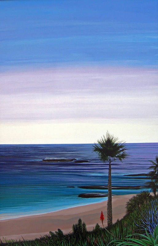 Malibu Beach Art Print featuring the painting Summer Samba by Hunter Jay