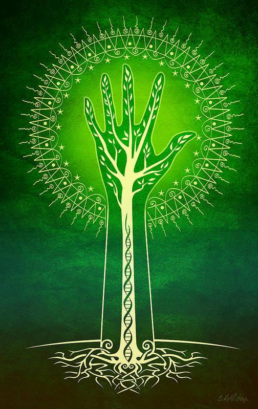 Nature Art Print featuring the digital art Reach by Cristina McAllister
