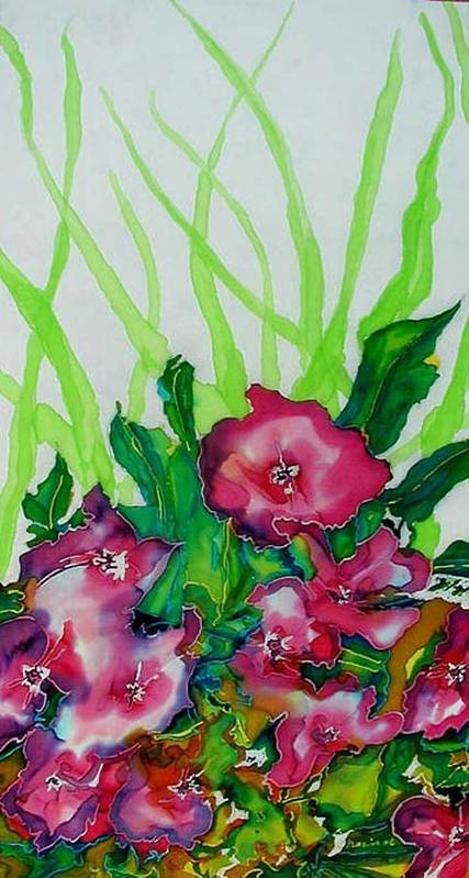 Flora Art Print featuring the painting Spring Celebration 1 by Ferril Nawir