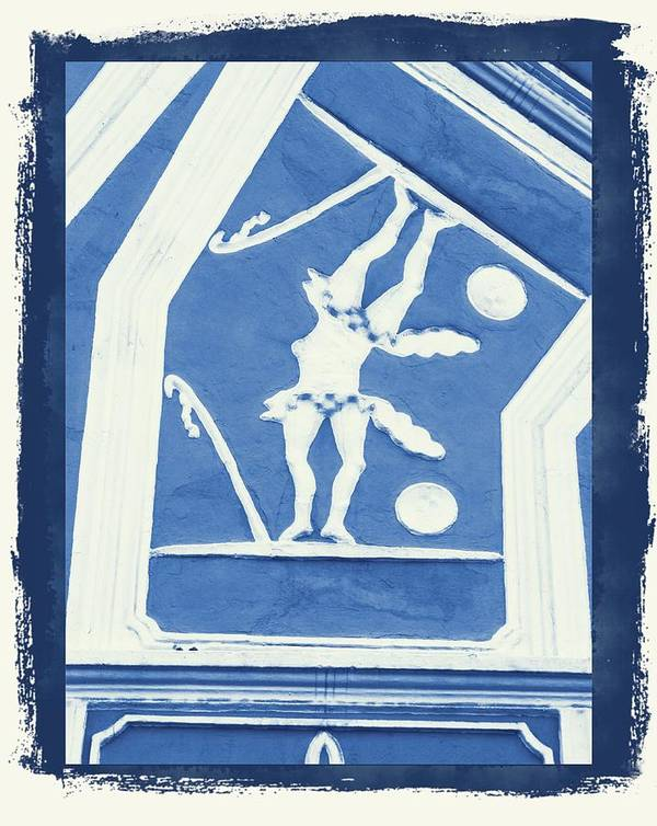 Blue Art Print featuring the digital art 1-13-2014 by John Holfinger